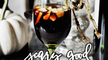 Halloween Party Drinks- Halloween Cocktails- Scary Good Sangria frostedeventscom