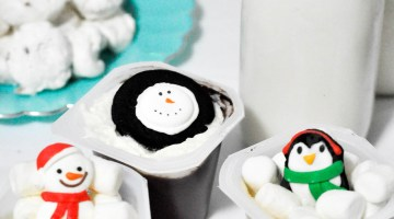 Winter Wonderland Party Winter Party Ideas with Snack Pack Christmas Treats frostedevents.com