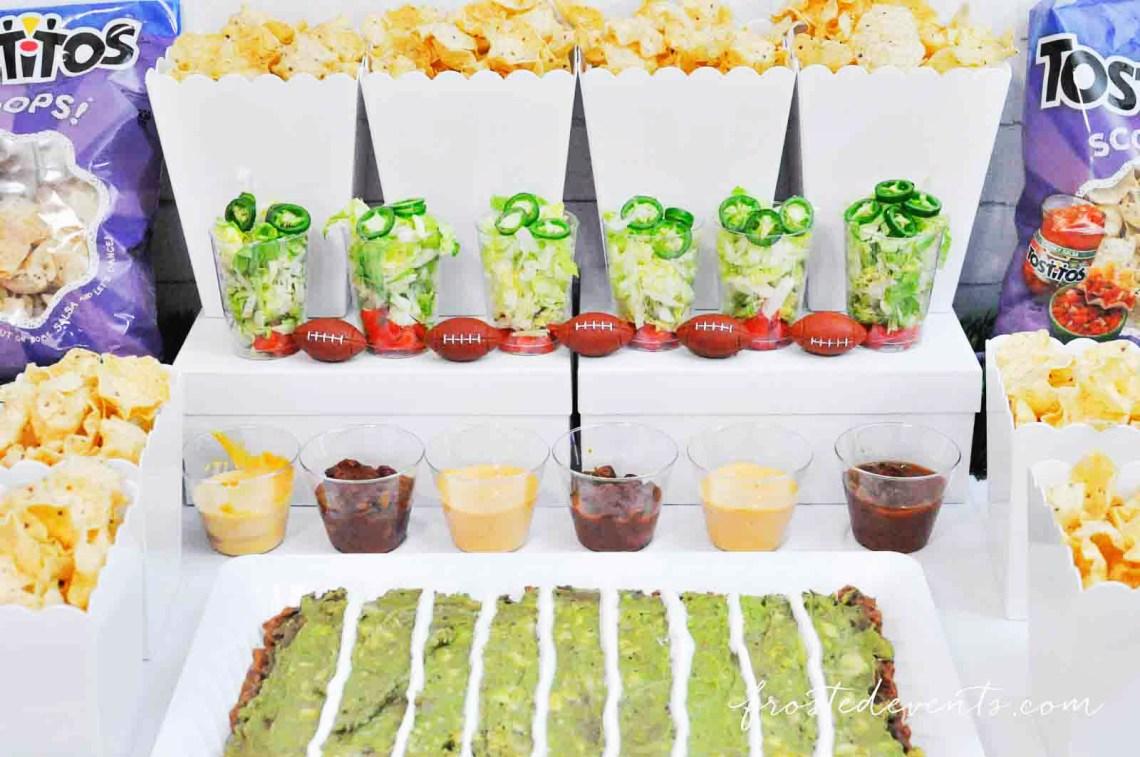 Football Party Snack Ideas Super Bowl Nacho Bar with Tostitos Food Ideas