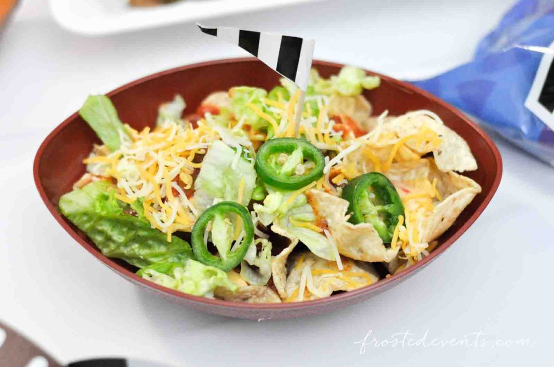 Football Party Ideas - Football Party food -- Super Bowl Nacho Bar with Tostitos Food Ideas