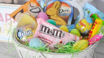 Easter Basket Ideas for Kids Candy Treats and Free Printable Card