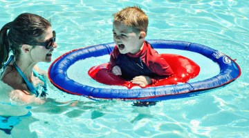 Teaching Our Toddler to Swim Step by Step Starting with SwimWays Float