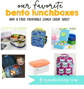 Bento Box Lunch Ideas Kids Lunch Printable