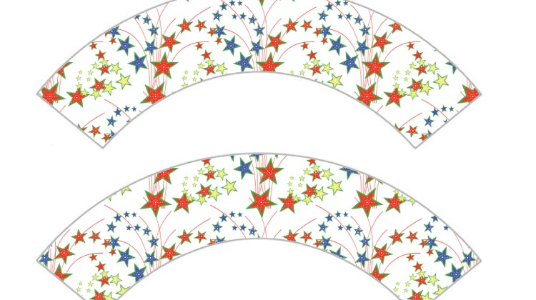 Cupcake Wrappers - Stars