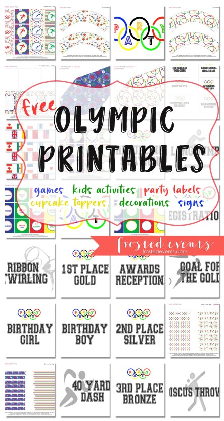 Olympic Games for Kids Free Printables and Party Ideas