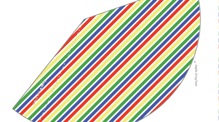 Printable Cones/ Party Hats - Olympic Stripes