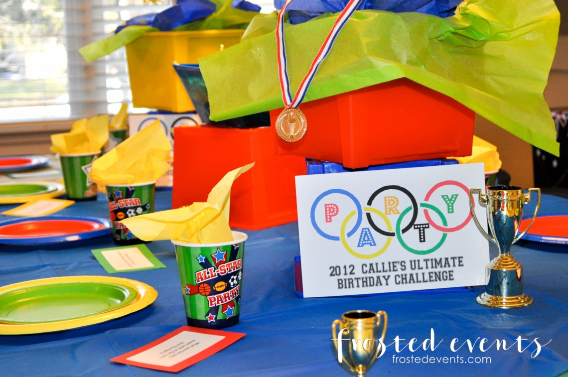 Olympic Games for Kids Birthday Ideas Decorations Free Printables