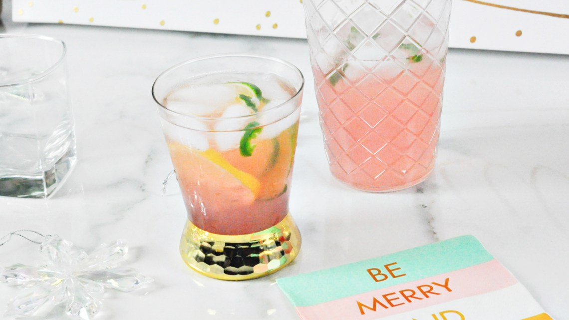 Holiday Cocktail Recipe Spicy Watermelon Margarita Drink via frostedmoms @frostedevents
