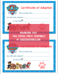 Paw Patrol Party Printables Paw Patrol Birthday Party Free Printable Decorations via frostedevents.com Misty Nelson