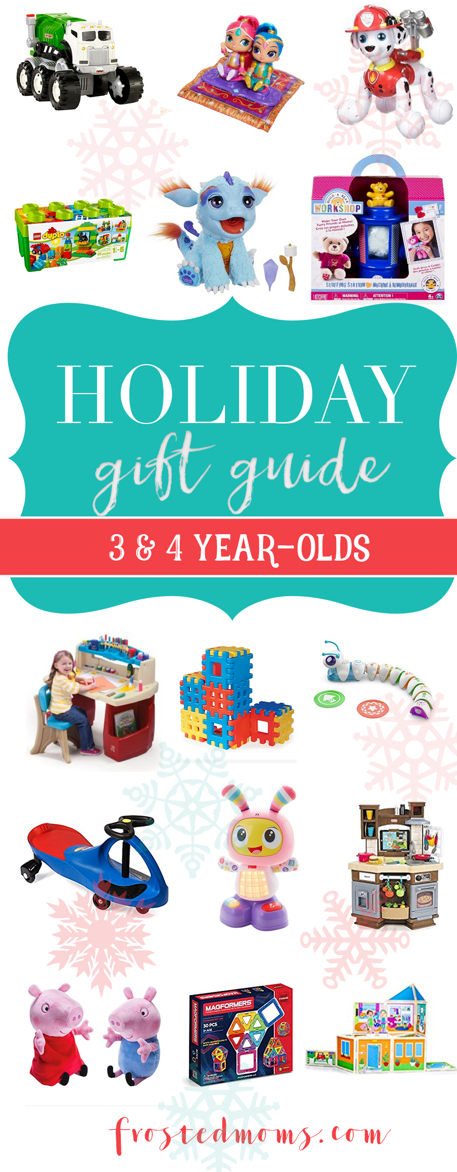 Top Toys for Three & Four Year Olds Holiday Gift Guide 2016