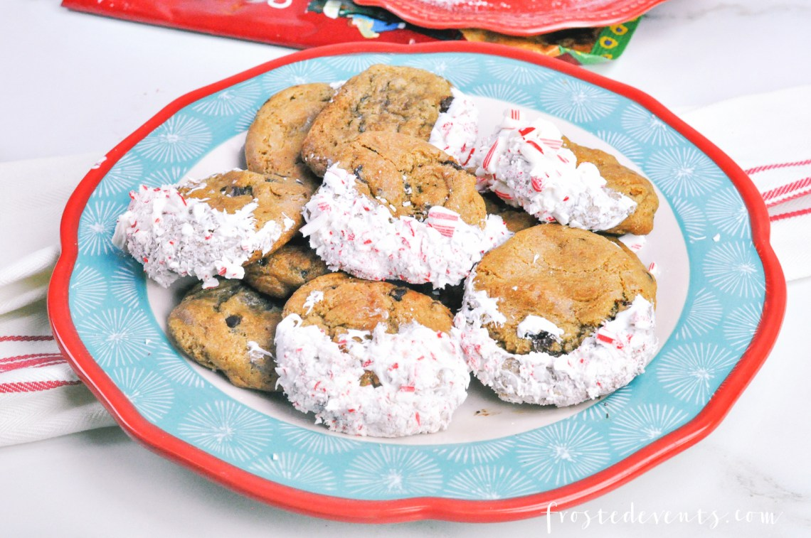 Holiday Cookies- Candy Cane Chocolate Chip with Immaculate Baking Brand Whole Foods via Misty Nelson @frostedevents