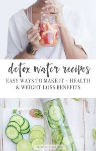 Detox Water Recipes and Benefits How to Lose Weight Drinking Water via frostedmoms