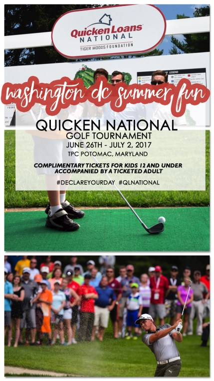Things to Do DC Quicken Loans National Golf Tournament Tiger Woods Foundation via Misty Nelson mom blogger, family friendly events washington dc