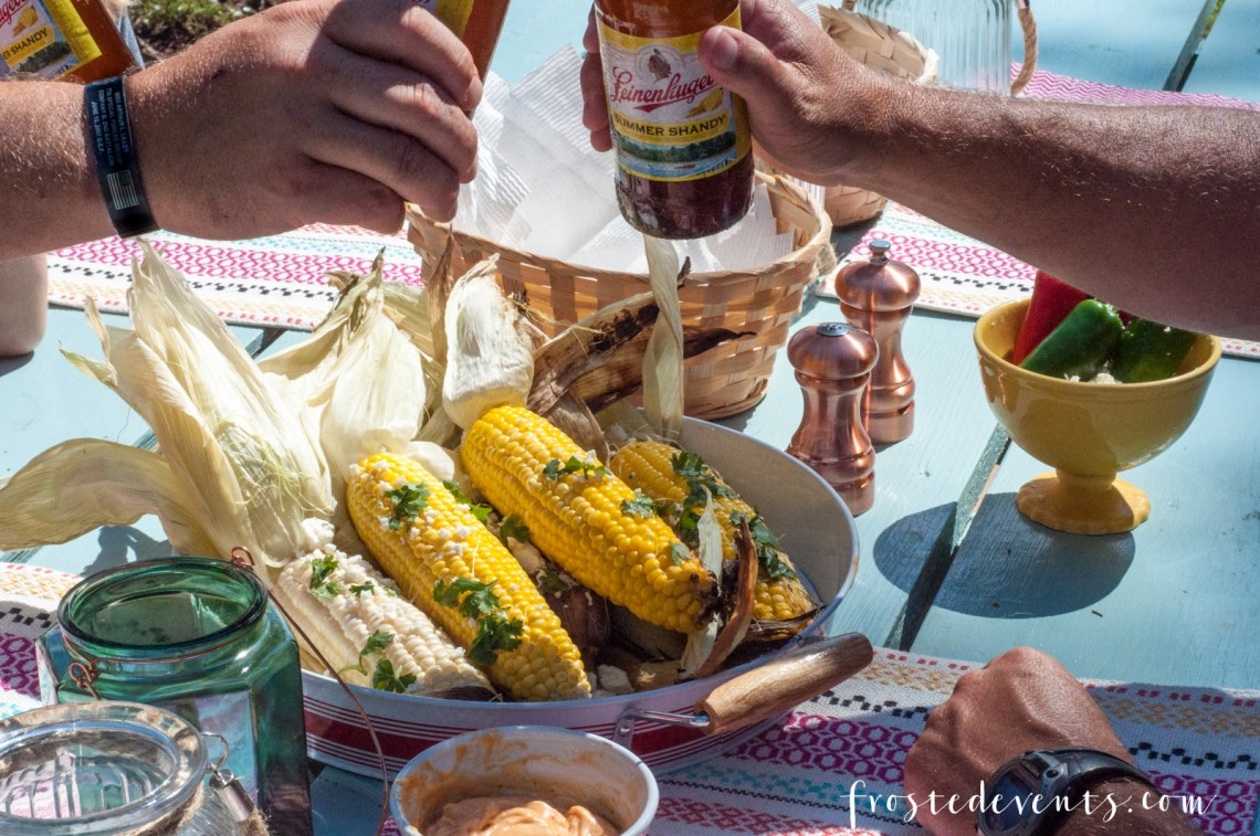 Summer Grilling Recipes - Grilled Corn with Chipotle Butter recipe by Pints & Plates featured on frostedevents -- Mexican Street Corn - Grilled Corn on the Cob