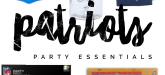 Patriots Party Essentials - Super Bowl Party Ideas -Football Party Ideas via Misty Nelson, NFL Fanstyle Council Influencer