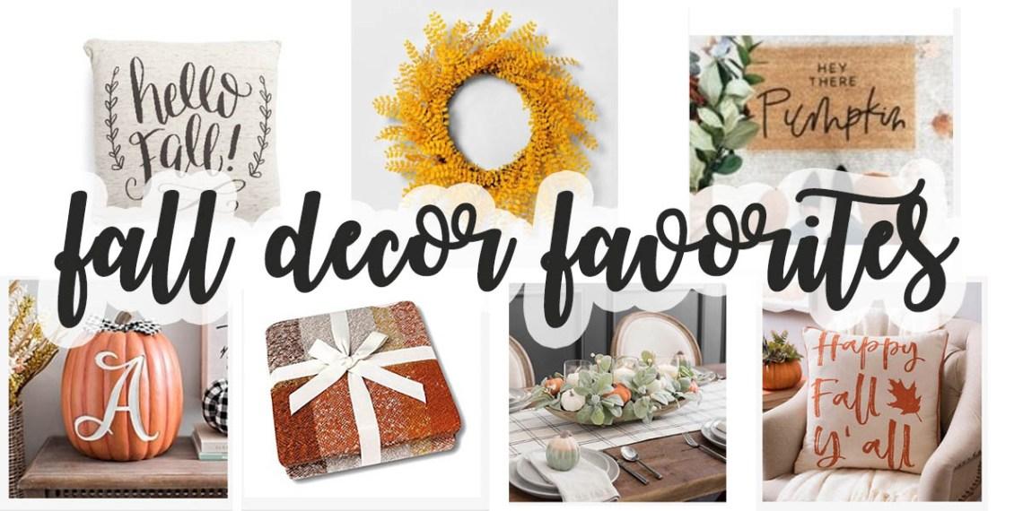 Fall Decor Ideas  - Where to find fall home decor