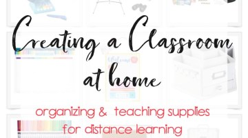 Home School Supplies - Learn at home list of distance learning supplies for setting up a classroom at home