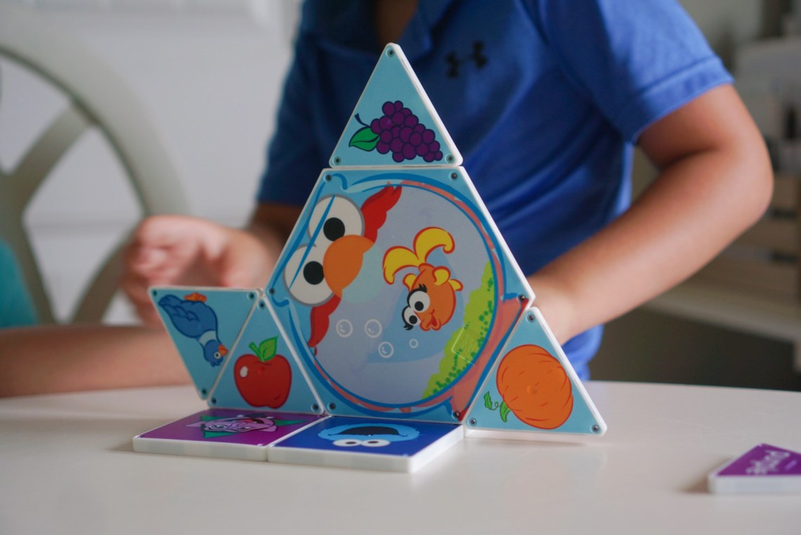 Sesame Street Magnatiles - Toys for Toddlers, Preschool Toys - magnets