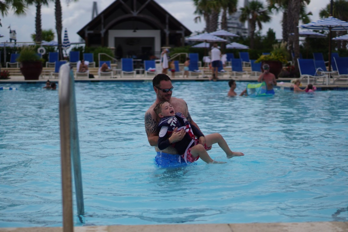 Charleston SC- Family travel South Carolina - family travel bloggers guide things to do in SC - Beach Club resort pool