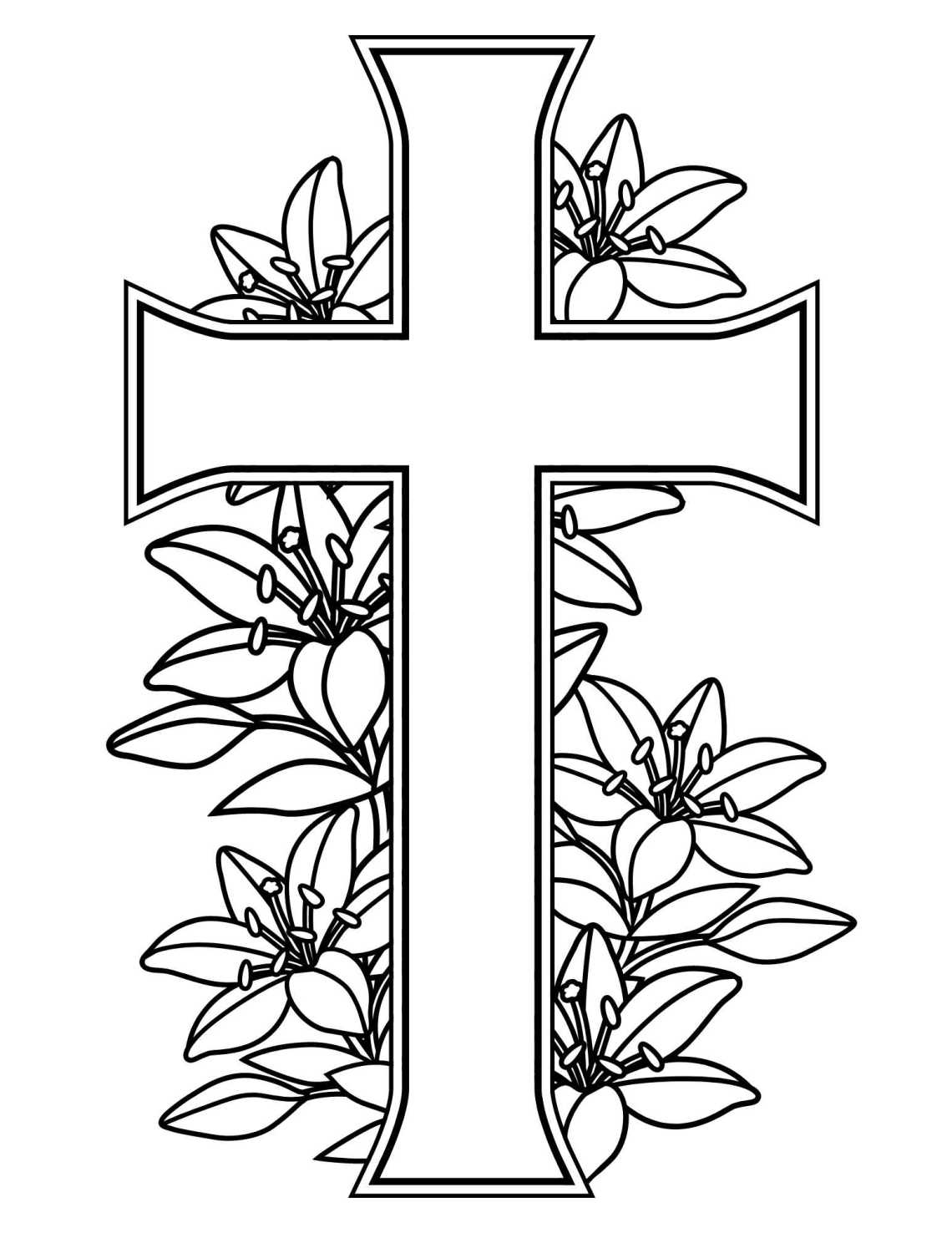 Easter Coloring Pages - Sunday school church printables
