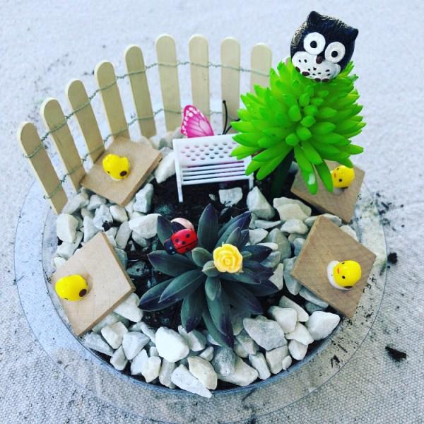 Fairy Garden with Owl