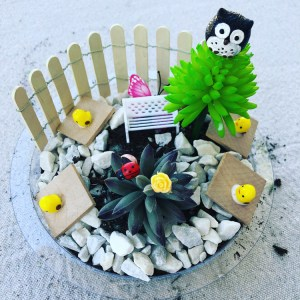 Fairy Garden with Owl
