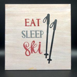 Ski Wooden Sign
