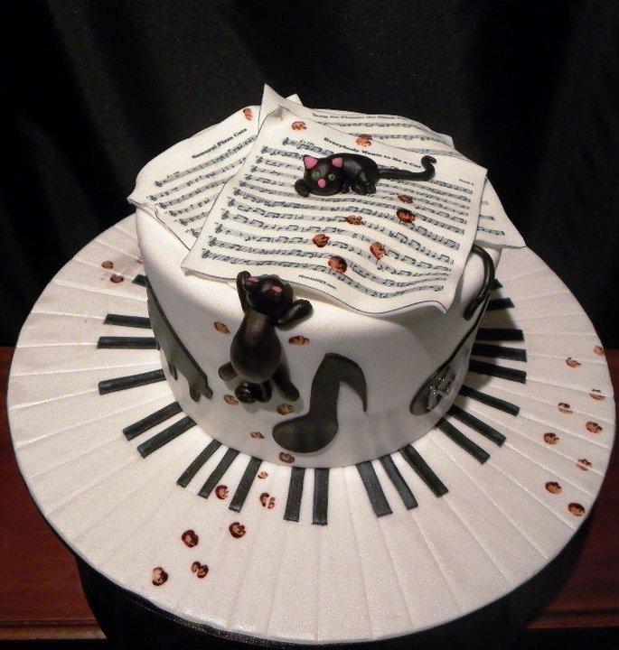 Cats Amp Music Birthday Cake