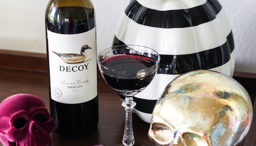 Halloween Libations with Decoy Wines Merlot