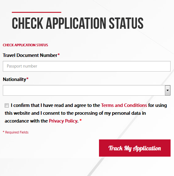 Application Status Check Form EMGS