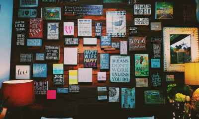 inspirational study abroad quotes post header an image with lots of quotes on a wall