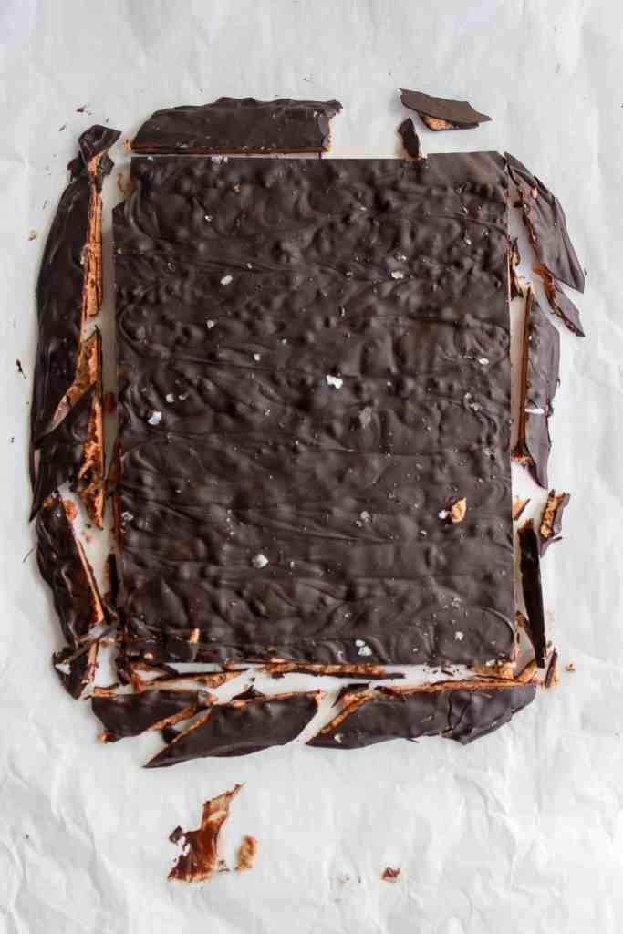 Decadent cookie butter bark