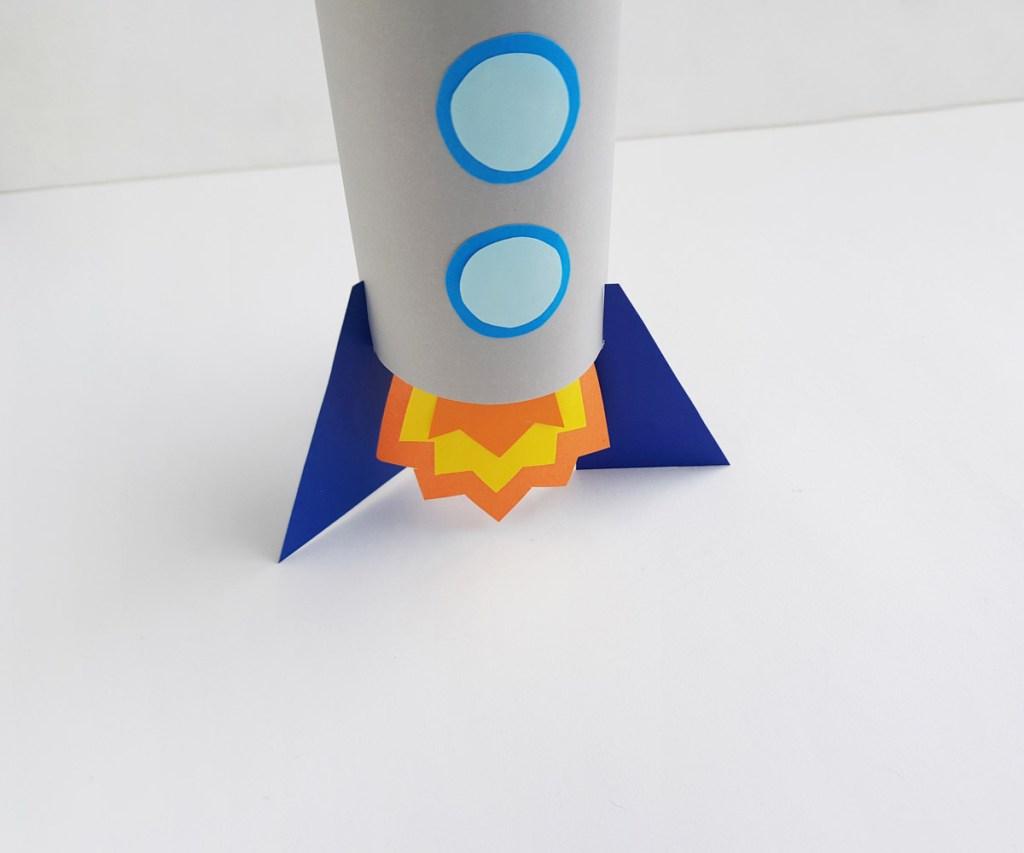 Toilet Paper Roll Rocket Craft bottom