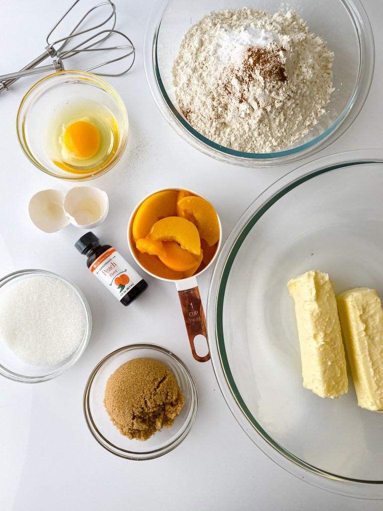 ingredients for peach cobbler cookies
