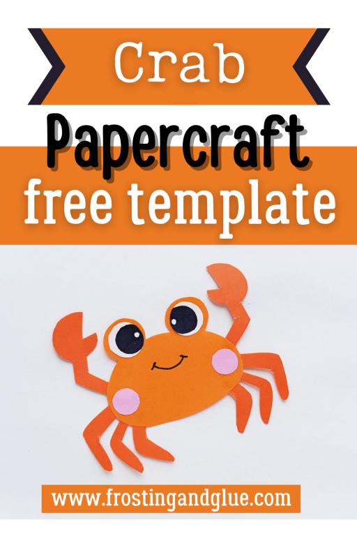 Finished crab papercraft Pinterest image