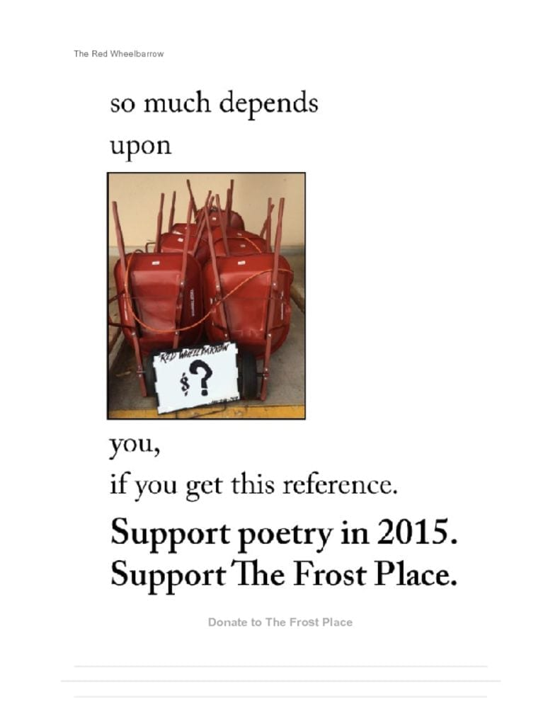 The Frost Place Newsletter End of Year Fundraising Letter