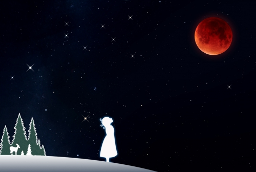 Under the Crimson Moon - Total Lunar Eclipse