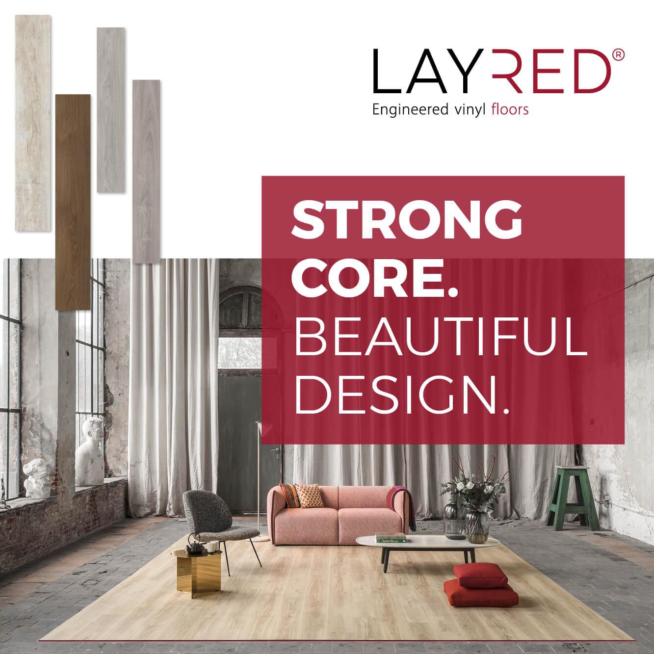 layred engineered vinyl flooring