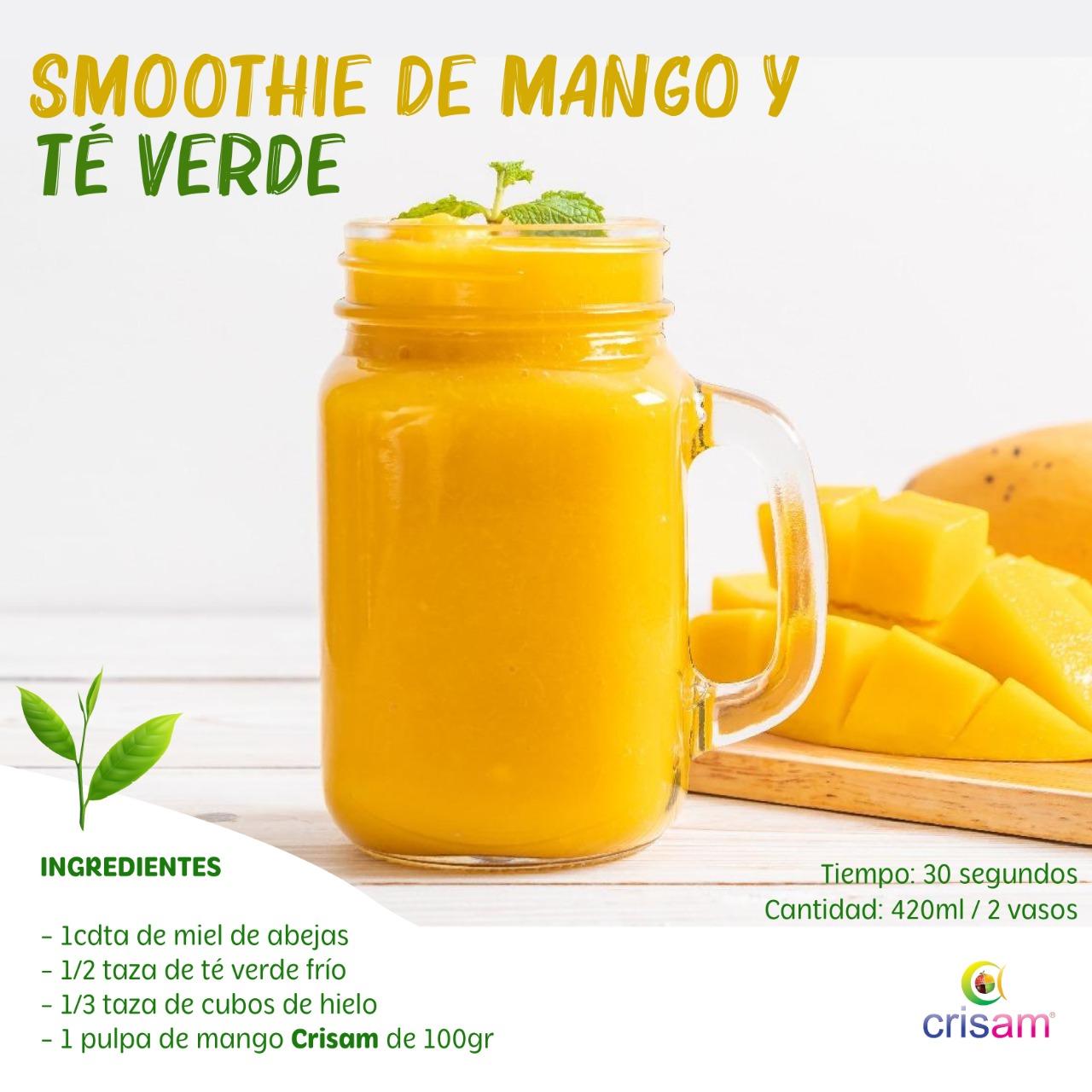 Smoothie de Mango y Té Verde