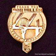 Lapel pin honoring Bob Miller and his legendary 44-year career.