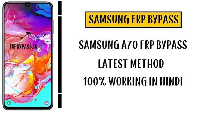 Samsung A70 FRP Bypass - Unlock Google Account (SM-A705)