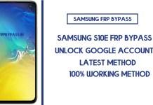 Samsung S10e FRP Bypass (Unlock SM-G970F/W/U Google Account) Android 10