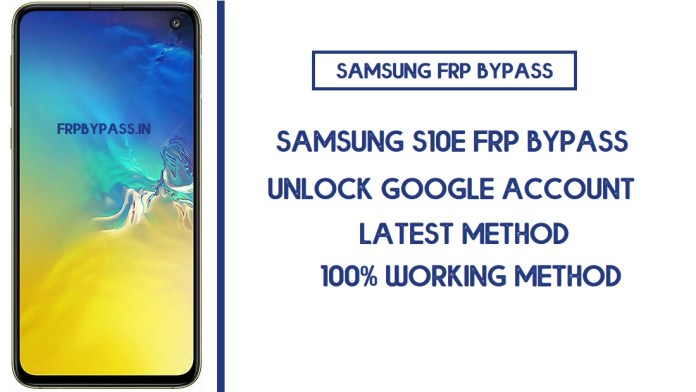 Samsung S10e FRP Bypass (Unlock SM-G970F/W/U Google Account) Android 10