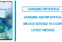 Samsung S20 FRP Bypass (Unlock SM-G980F Google Account) Android 10
