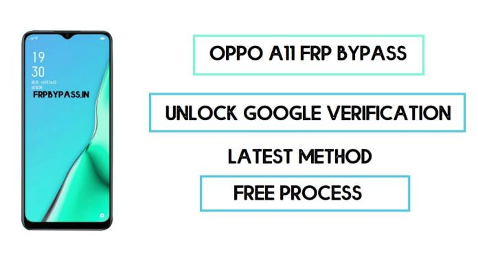 Oppo A11 FRP Bypass (Unlock Google Account) Android 9 (FRP Code)