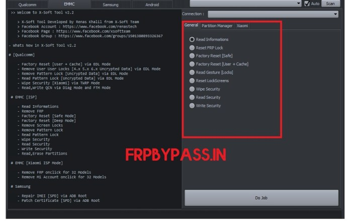 EMMC FRP Unlock Tool