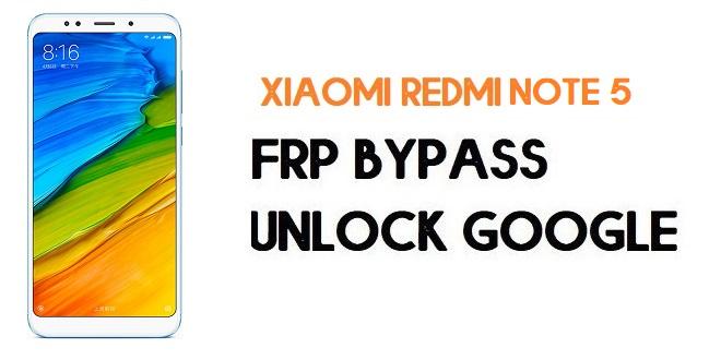 Xiaomi Redmi Note 5 FRP Bypass | Unlock Google Verification (MIUI 12)
