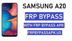 Samsung A20 FRP Bypass