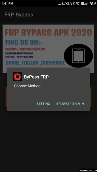 FRP Bypass APK Application and tools