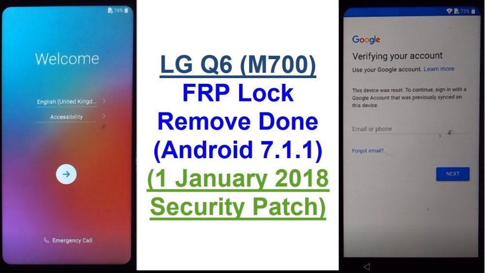remove frp lg m700 q6 wihout box test point new security 2